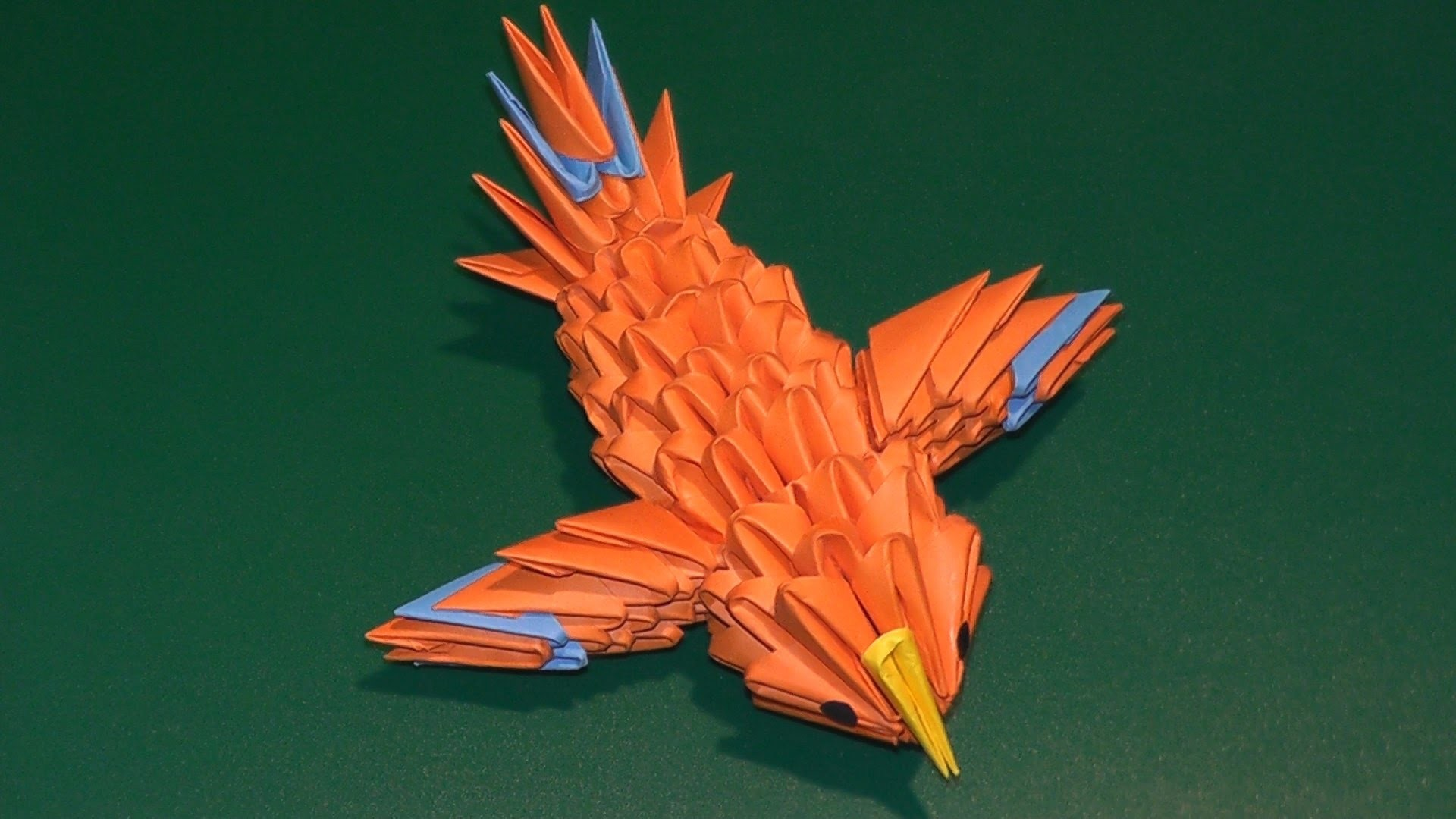 3D origami a hummingbird (a canary) tutorial