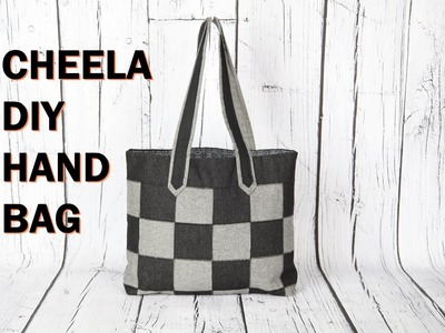Cheela 4. flat patch work tote bag with zip pocket.DIY Bag Vol 22