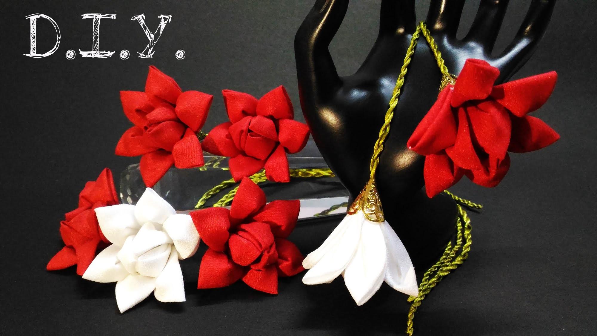✾ ❀ ✾ D.I.Y. Kanzashi Flower Sling ✾ ❀ ✾