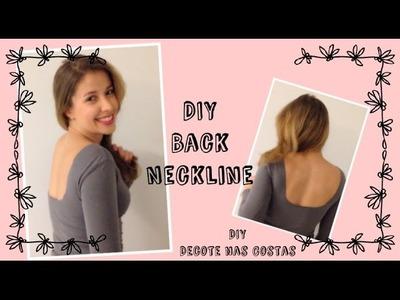 DIY- Back Neckline Design