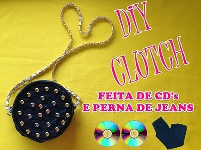 Diy: Bolsa feita com cd´s e resto de  jeans - Customizei meu closet