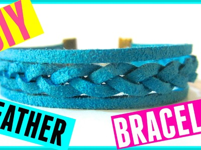 DIY Braided Leather Bracelet