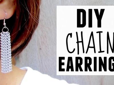 DIY Chain Earrings