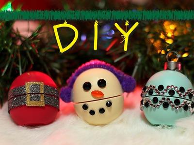 DIY Christmas EOS Gifts (Santa.Snowman.Ornament) || Lucykiins