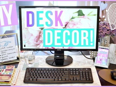 DIY Desk Decor Ideas ♡ Desk Makeover Part 1