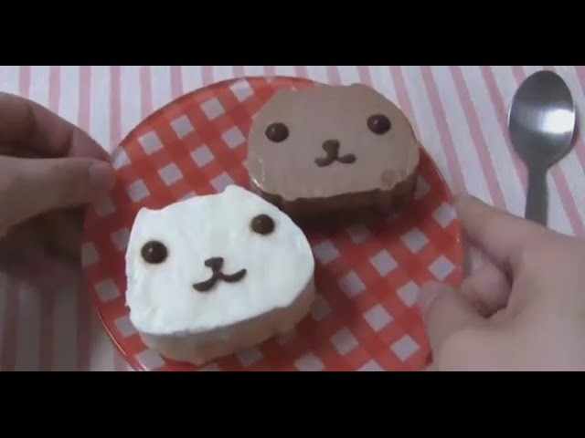 DIY Handmade -  How to make Kapibara-san Chocolate Mouse Cake in 1 minutes