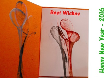 DIY - How to Make a Greeting Card from THREAD | Thread painting - Project for Children's