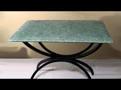 DIY Mesa com de vidro temperado - Table with tempered glass - Tablero de vidrio templado