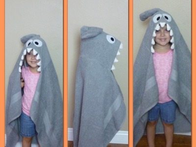 DIY Shark Hooded Towel - Super Cute | Fun for kids