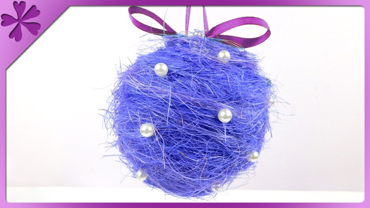 DIY Sisal Christmas ball (ENG Subtitles) - Speed up #167