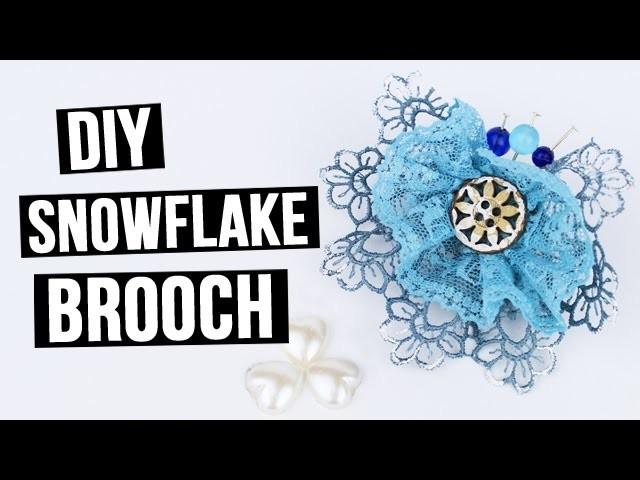 DIY Snowflake brooch