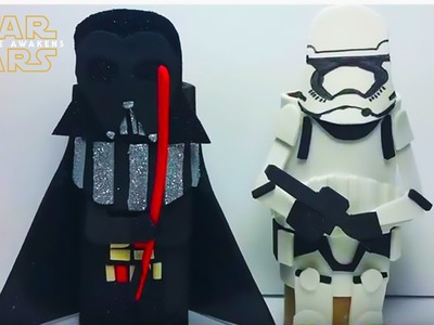 DIY: Star Wars Toilet Paper Roll Craft Figures! Darth Vader and Imperial StormTrooper!