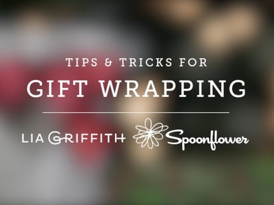 Gift Wrapping Tutorial by Lia Griffith