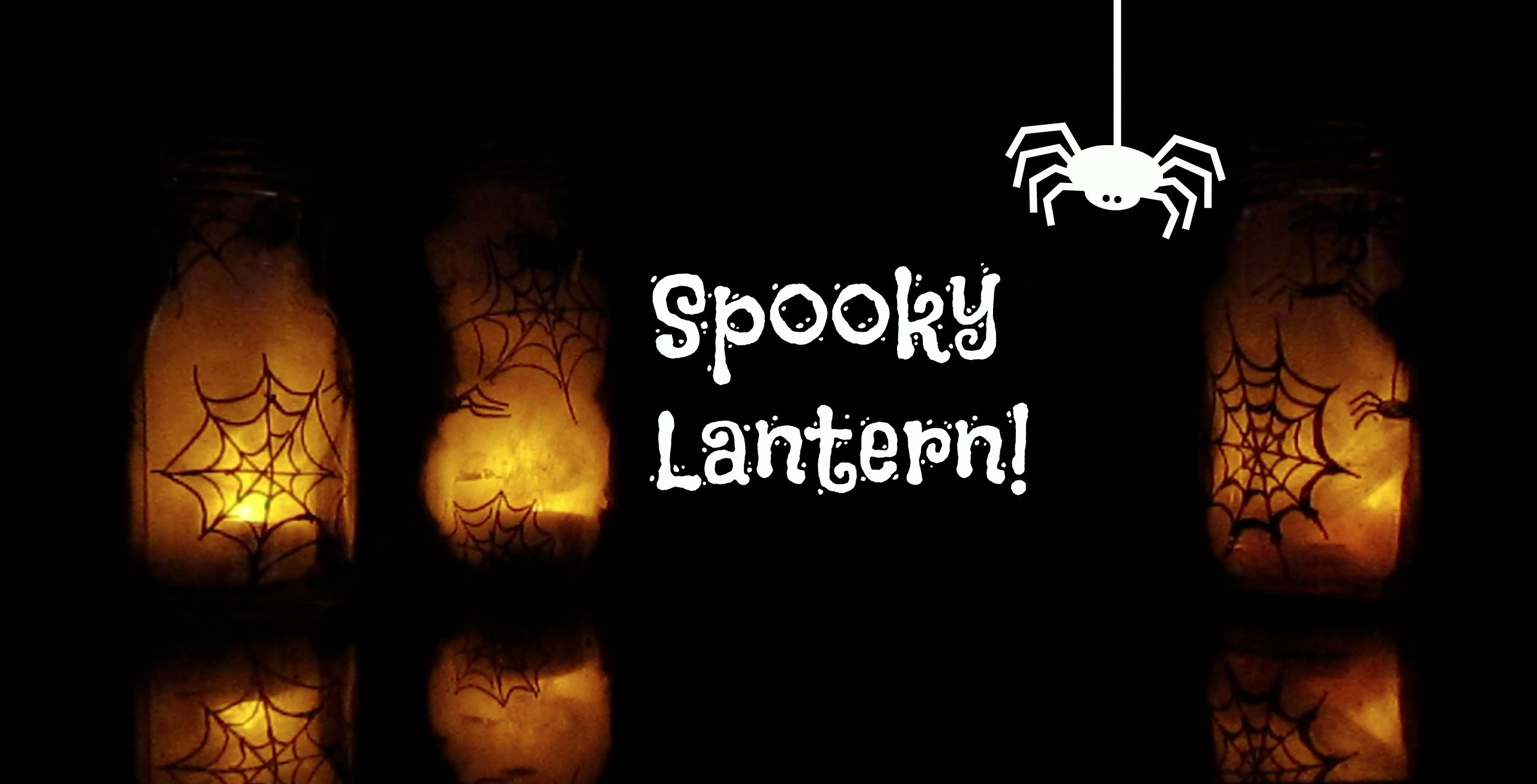 Halloween Series: Spider Cobweb Lantern DIY | egleTV