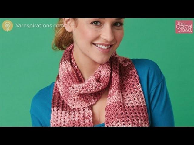 How to Crochet: Open Work Scarf Tutorial