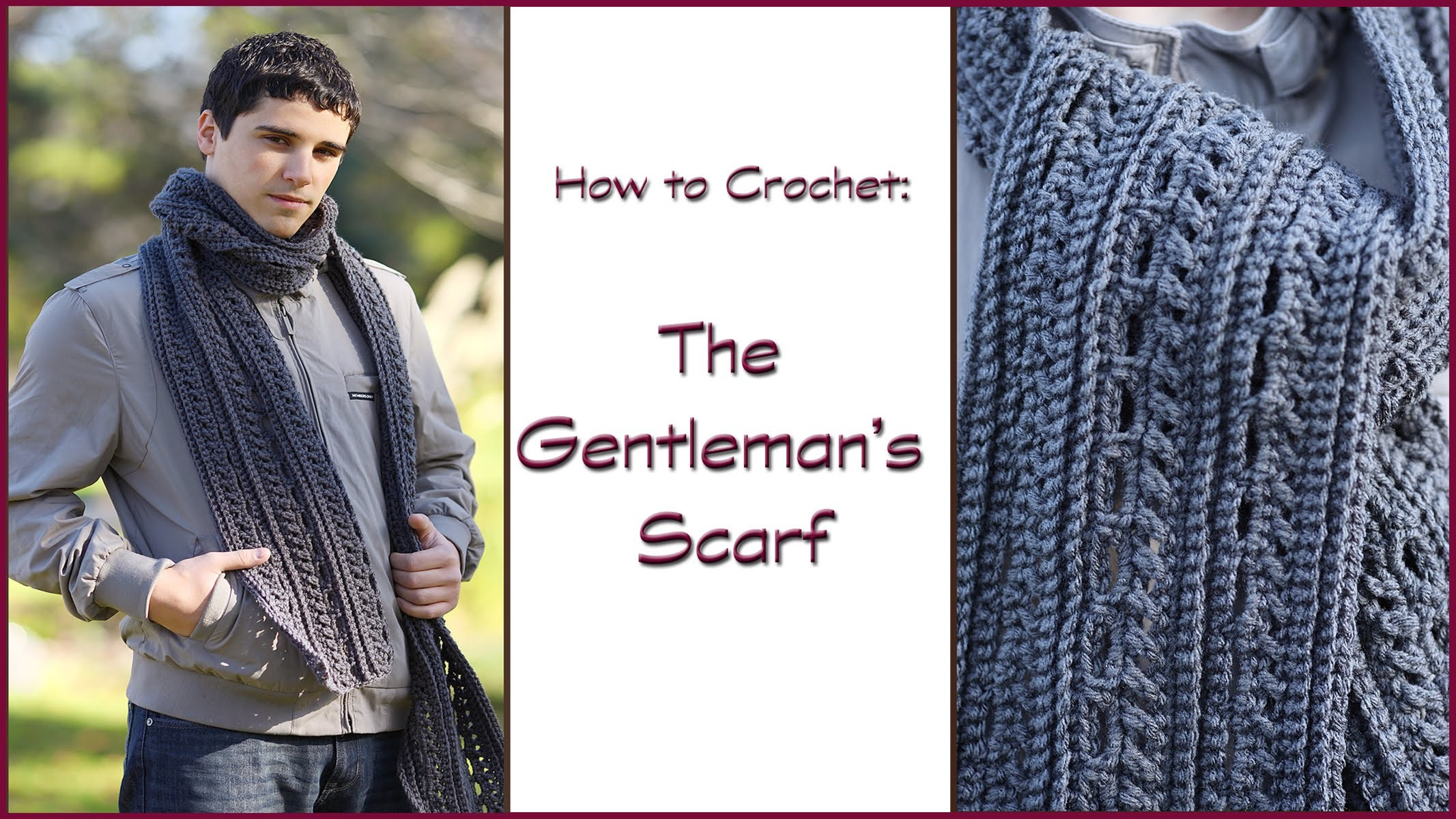 How to Crochet the Gentleman's Scarf
