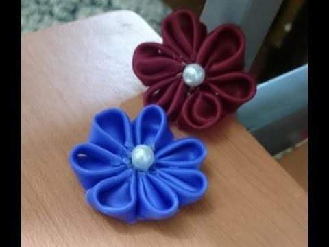 How to DIY Satin Ribbon Rose, Satin Ribbon Flower  + Tutorial