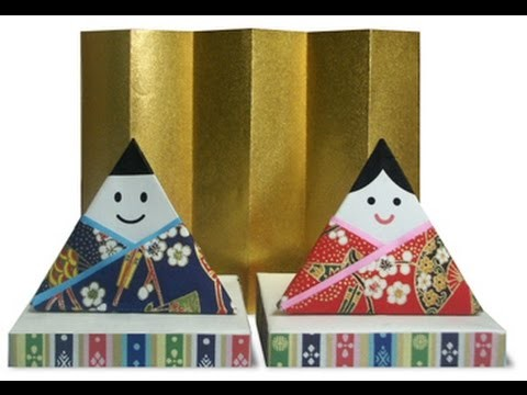 How to fold paper Hina doll 2 step by step