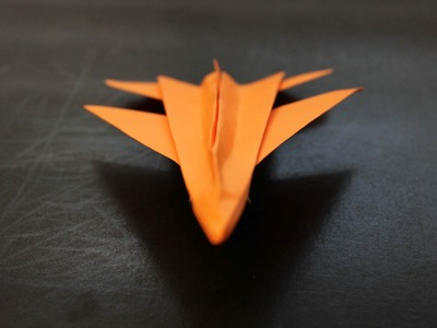 How to make a Jet Fighter Origami Paper Plane: instruction