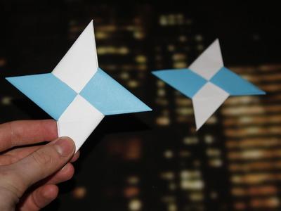 How to make a Paper Ninja Star - (Shuriken - Origami)