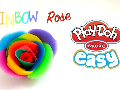 How To Make a Rainbow Rose with Play-Doh!