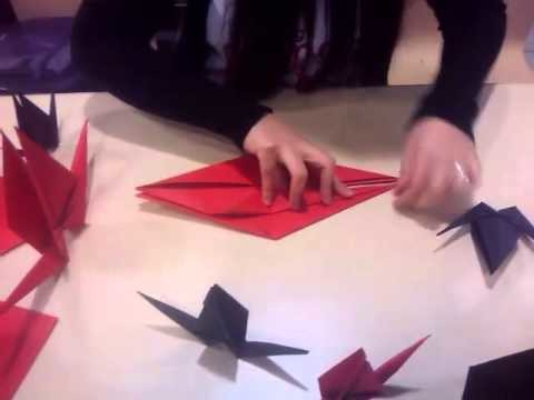 Making origami bird with Safe and Sound ;)