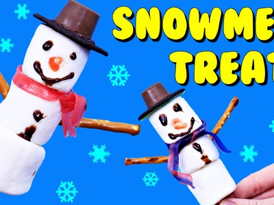 MARSHMALLOW SNOWMEN Christmas Treats Dessert DIY EASY Kid Cookies & Surprise Toys Ornaments