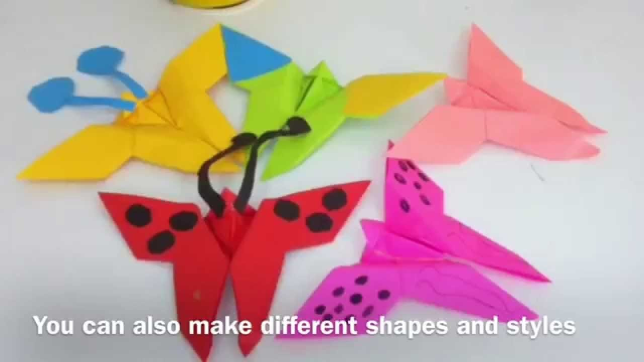 Origami - How to make a paper Butterfly |origami paper crafts