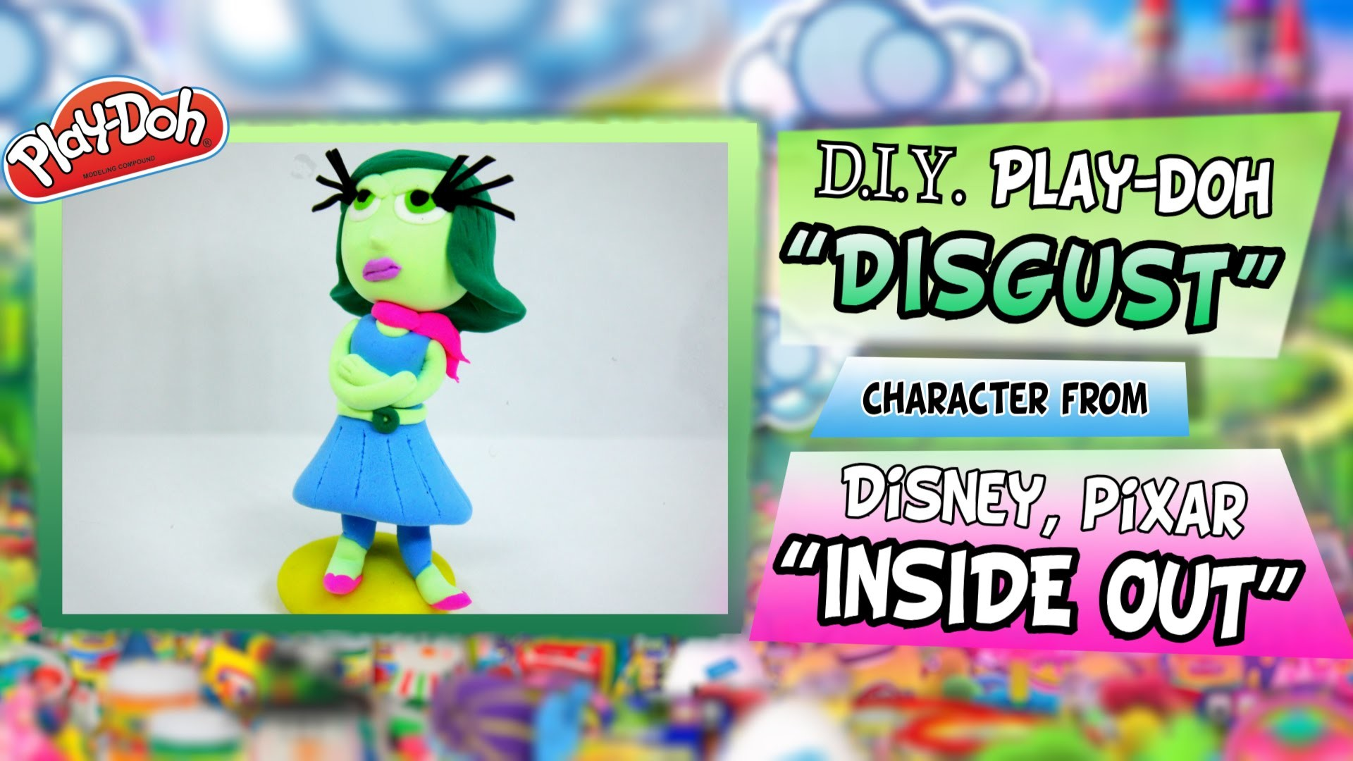 "Play-Doh ""DISGUST"" from Disney Pixar ""INSIDE OUT"", DIY plasticine figure tutorial"