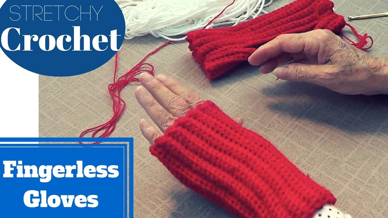 Single Crochet Fingerless Gloves (Stretchy)