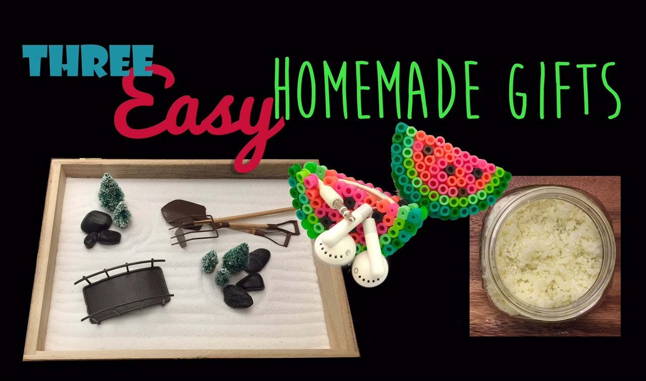 Three Easy Handmade Gifts: Zen Garden, Earphone Holder & DIY Sugar Scrub