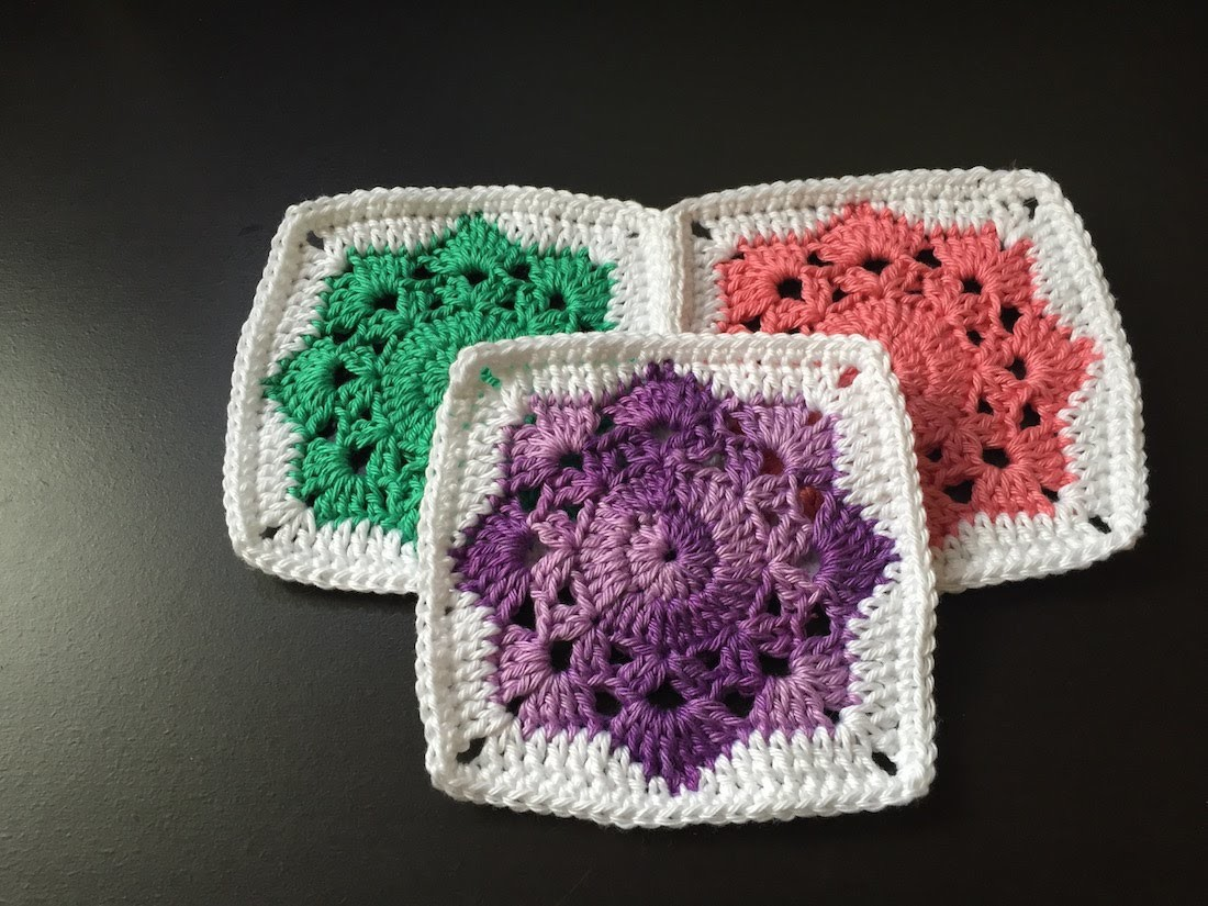 Tuto square flocon au crochet