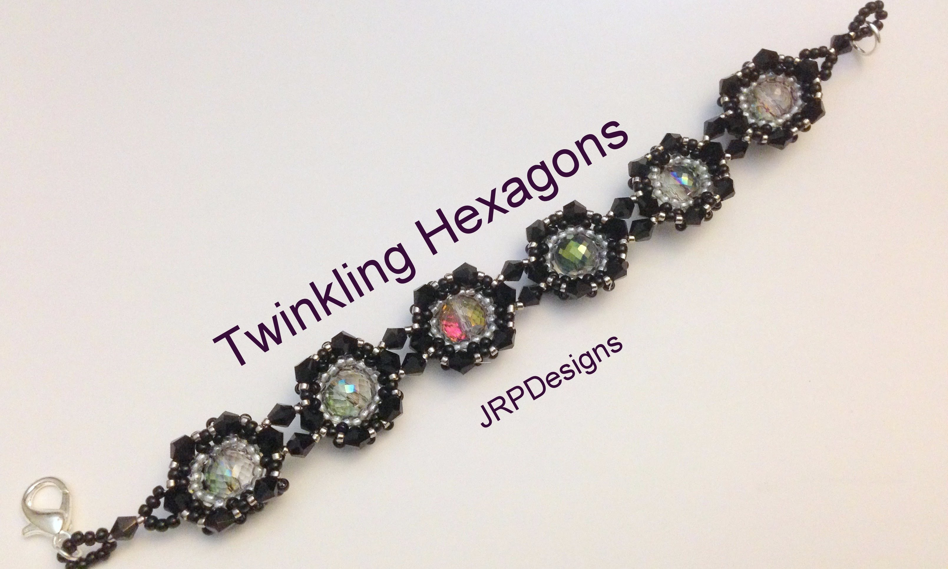 Twinkling Hexagons Bracelet--Intermediate Level Part 1