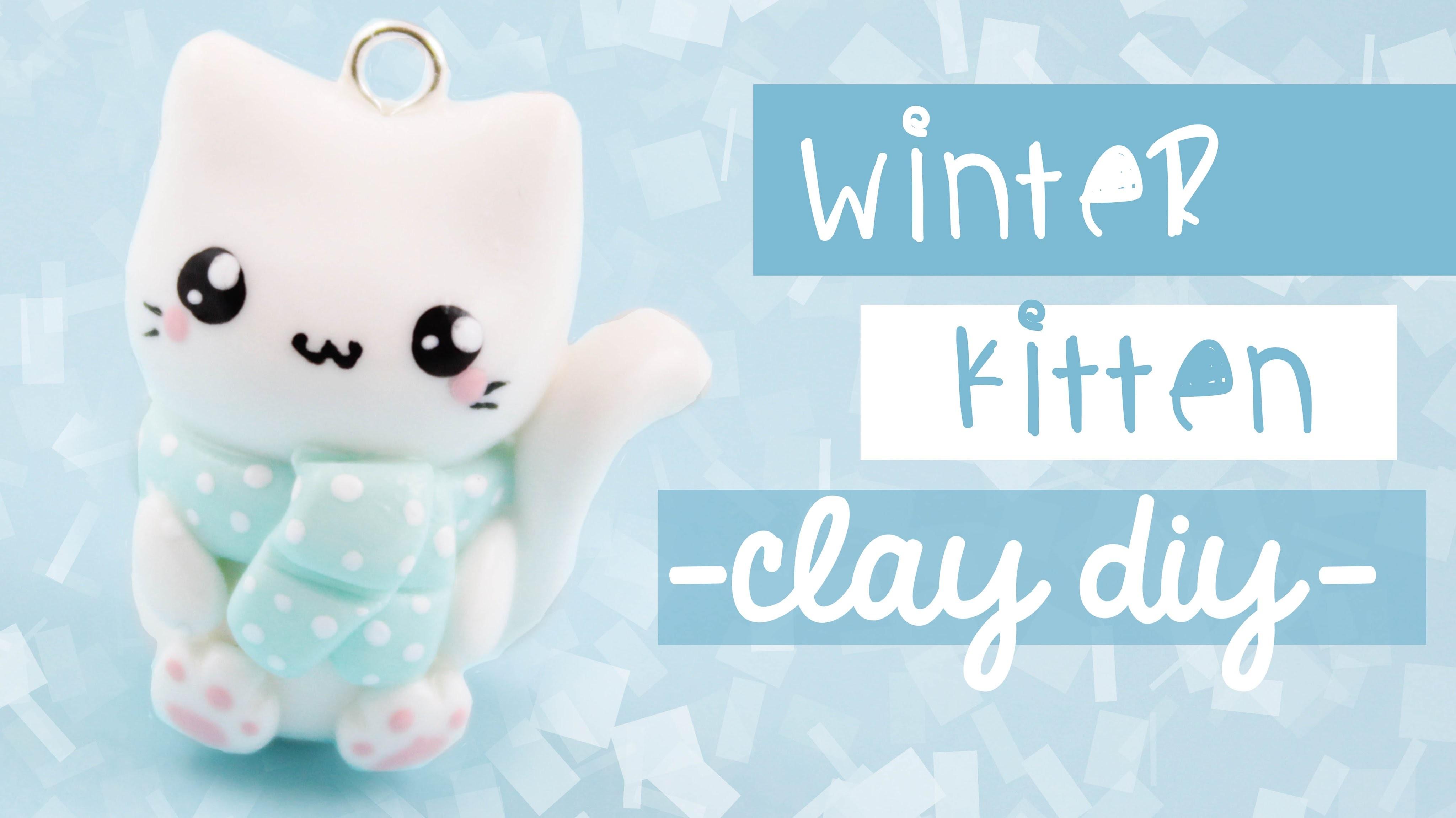 Winter Cat Clay-DIY | Kawaii Friday