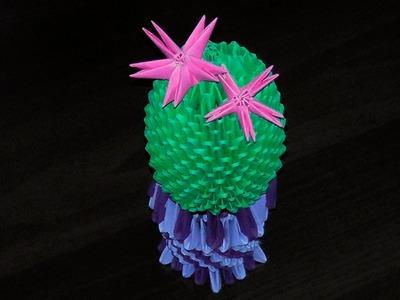 3D origami cactus (plant, peyote) tutorial