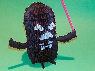 3D origami Darth Vader tutorial