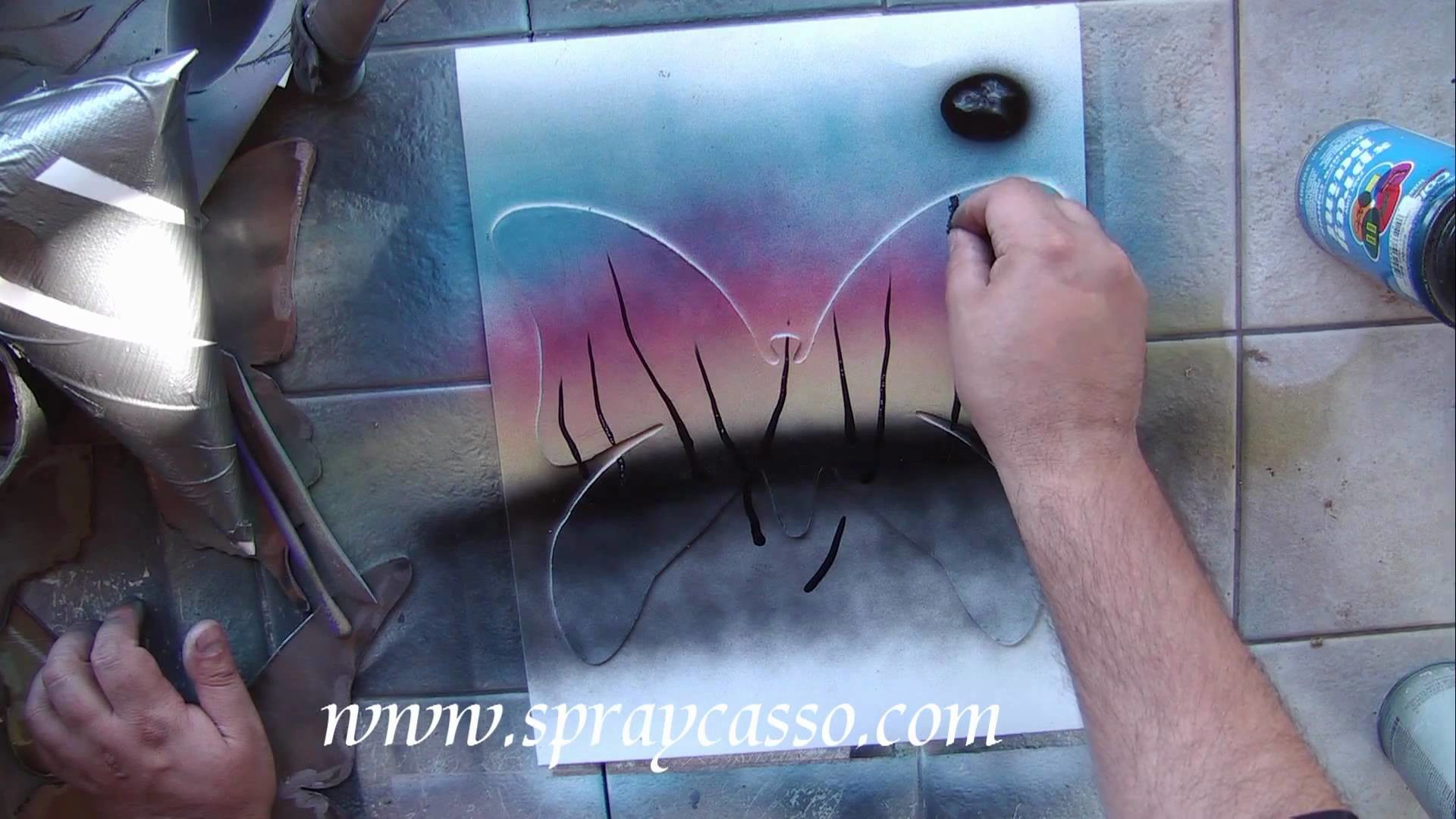 Butterfly stencil tutorials (begginer)