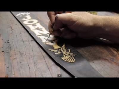 Custom Guitar Strap, Handmade, DIY, Time Lapse - Featuring The Music of Peewee Moore