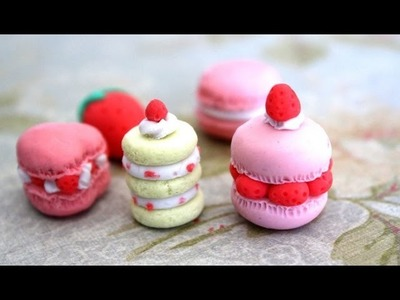 DIY: Make Your Own Erasers + GIVEAWAY!. Strawberry Shortcake & Macarons