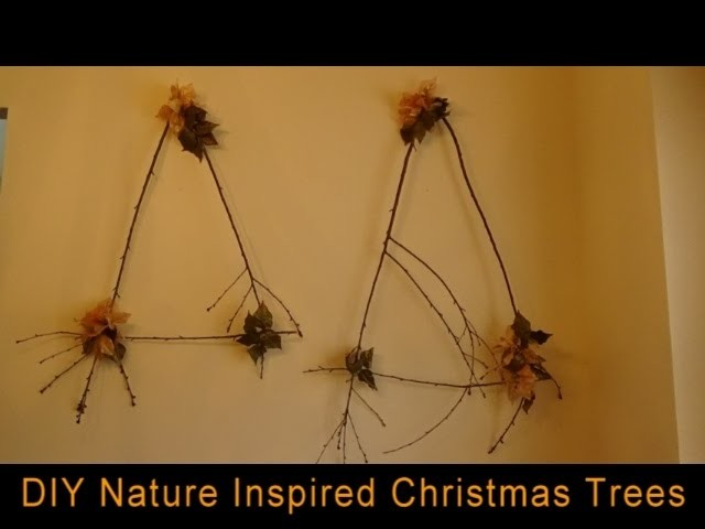 DIY Nature Inspired Christmas Wall Decor