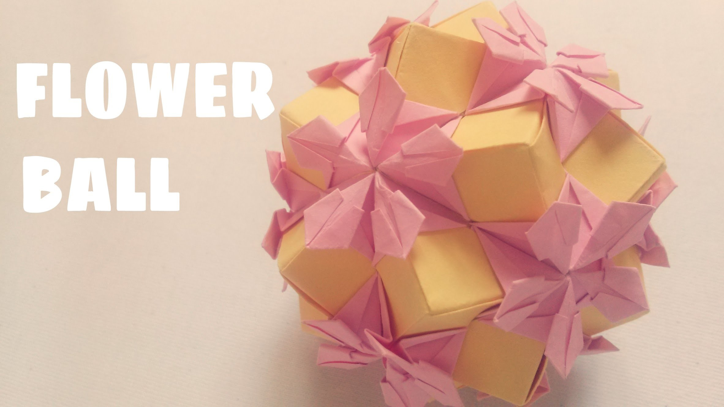 DIY - Origami Flower Ball - Kusudama Ball
