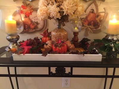 Dollar Tree Fall Decor.Painted Trays