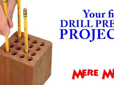 Drill press pencil holder   Mere Mini