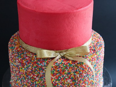 Easy 2 Tier Sprinkles Cake Tutorial