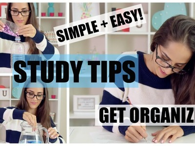 || GET ORGANIZED with these SIMPLE and EASY Top Study Tips! || + DIY Desk Inspiration