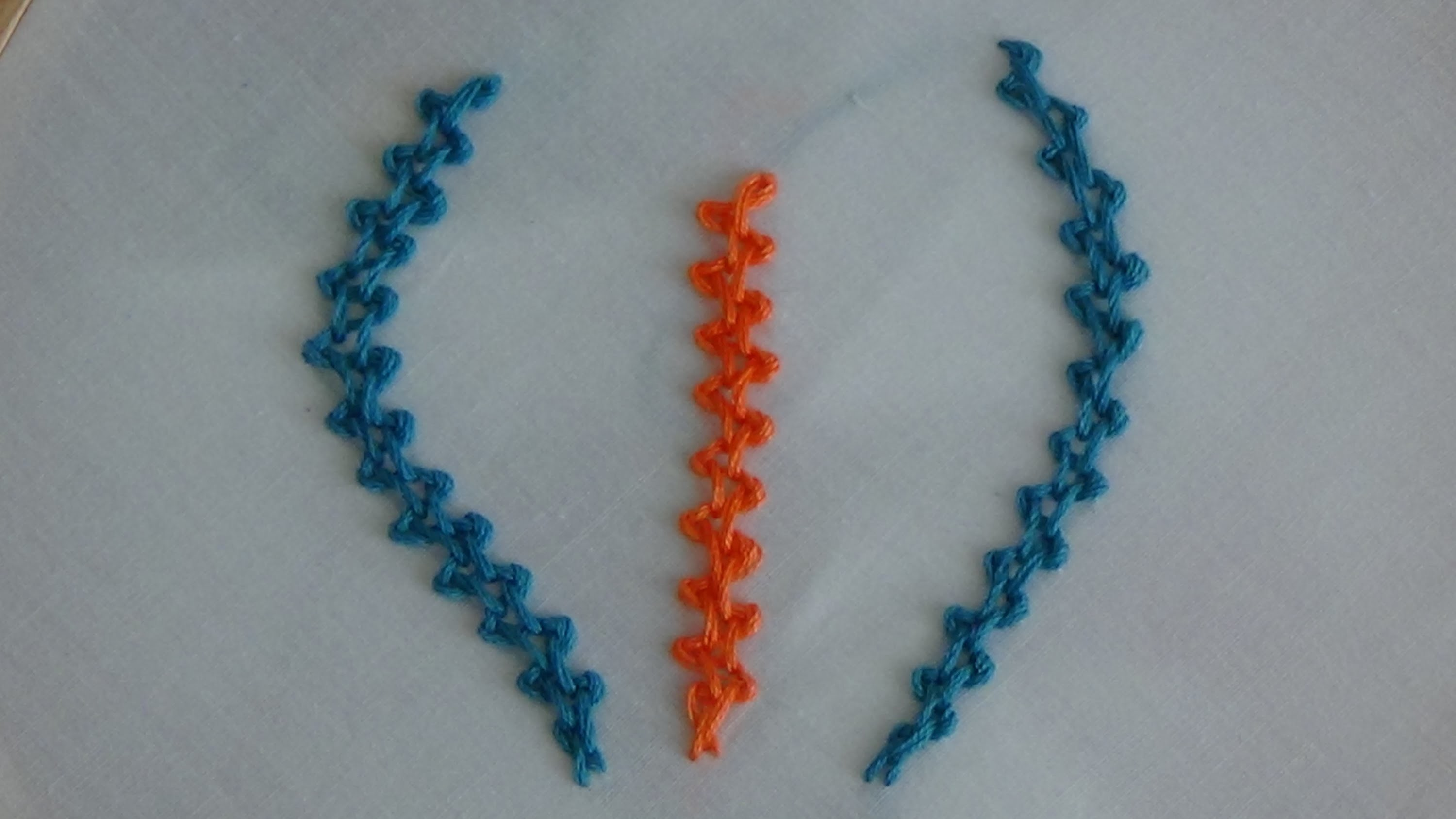 Hand Embroidery: Braid Stitch