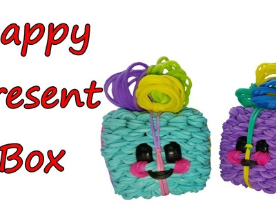 Happy Box Present Tutorial by feelinspiffy (Rainbow Loom)