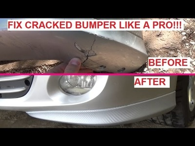 How to fix CRACKED Bumper LIKE A PRO!!! Cheap and Looks Great!