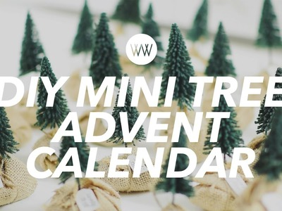 How to Make a Mini Tree Advent Calendar