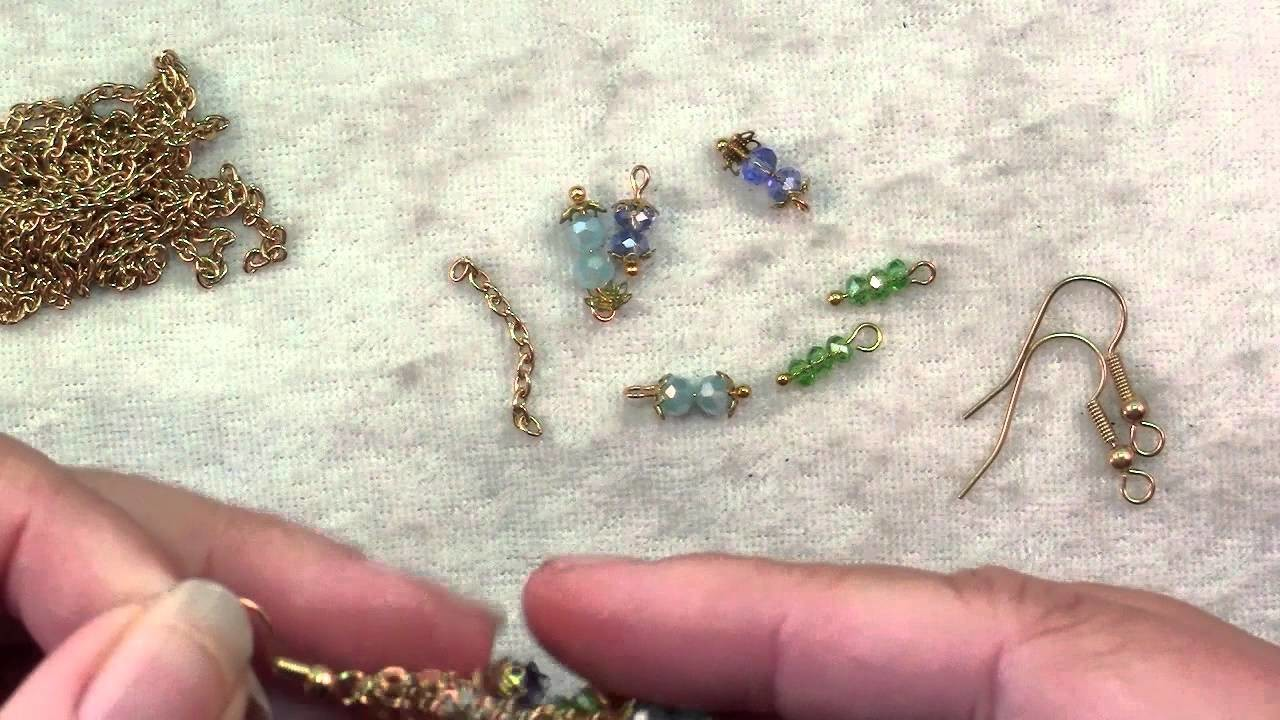 How To Make Crystal & Chain Earrings